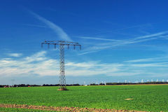 Electricity supply pylon Royalty Free Stock Image