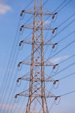 Electricity supply pylons in countryside Stock Image