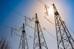 Electricity support Royalty Free Stock Photography