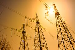 Electricity support Royalty Free Stock Photo