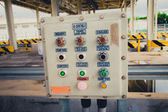 Electricity switch power control box. In power plant royalty free stock image