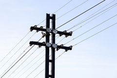 Electricity and telecommunication post Stock Images