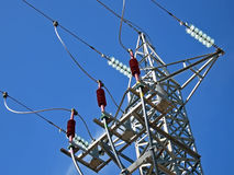 Electricity Tower. Tower to distribute electricity from a power station Royalty Free Stock Photos