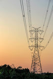 Electricity tower and electric line Royalty Free Stock Images