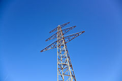 Electricity tower for energy with sky Stock Photo