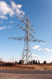 Electricity tower for energy with sky Stock Images