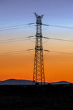 Electricity tower at evening Royalty Free Stock Image