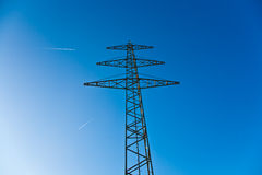 Electricity Tower For Energy With Sky Royalty Free Stock Images