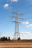 Electricity Tower For Energy With Sky Royalty Free Stock Image