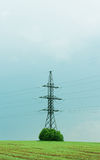 Electricity tower and power wires Royalty Free Stock Photography