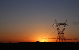 Electricity tower providing energy distribution Stock Photo