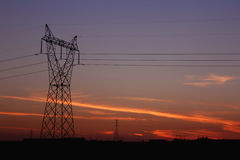 Electricity tower providing energy distribution Stock Image