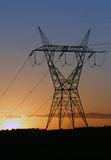 Electricity tower providing energy distribution Stock Images