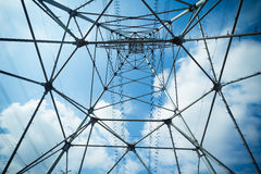 Electricity tower steel Stock Images