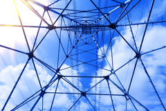 Electricity tower steel Stock Photography