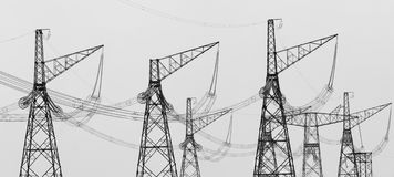 Electricity towers Stock Photos