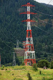 Electricity towers, Columbia river gorge Oregon. royalty free stock photo