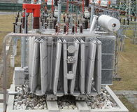 Electricity from transformer high voltage Royalty Free Stock Photo