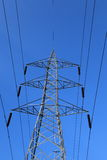 Electricity Transmission Line. Power Grid-Electricity Transmission Line Stock Photography