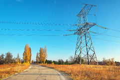 Electricity transmission lines Stock Photography