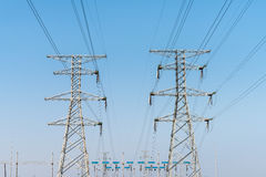 Electricity transmission pylon Stock Photo
