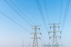 Electricity transmission pylon Stock Image