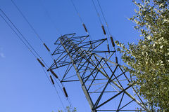 Electricity transmission tower Stock Image