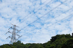 Electricity transmission tower Royalty Free Stock Photography