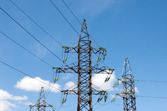 Electricity transmission towers Royalty Free Stock Photography
