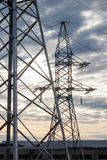 Electricity transmission towers Royalty Free Stock Photo
