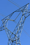 Electricity transmission towers Stock Photo