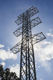 Electricity transmission towers without wires Royalty Free Stock Image