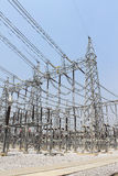 Electricity transmission yard Stock Photography