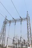 Electricity transmission yard Stock Photo