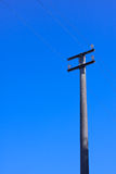 Electricity transportation. Across the sky Royalty Free Stock Images