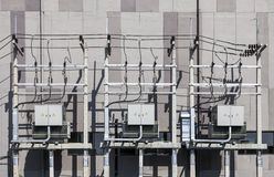 Electricity unit. High-voltage substation Royalty Free Stock Image
