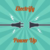 Electricity vintage theme Royalty Free Stock Photography