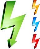 Electricity warning symbols. Stock Photo