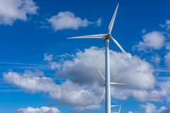 Electricity. Wind power, alternative to climate change Royalty Free Stock Photography