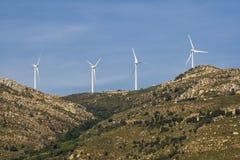 Electricity windmills on the hills. Tarifa. Spain. Stock Image