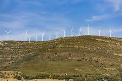 Electricity windmills on the hills. Tarifa. Spain. Royalty Free Stock Photos