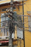 Electricity Wires in Vietnam Royalty Free Stock Photo