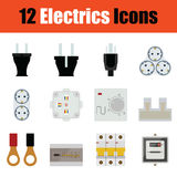 Electrics icon set Stock Image