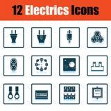 Electrics icon set Royalty Free Stock Photo