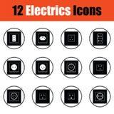 Electrics icon set Royalty Free Stock Image