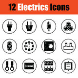 Electrics icon set Royalty Free Stock Photography
