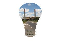 Electricty concept. Huntly Power Station, coal and gas fired. Save Power Royalty Free Stock Photo