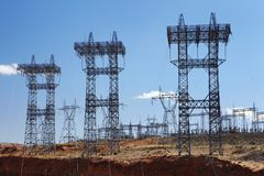 Electricty pylons USA Stock Photos