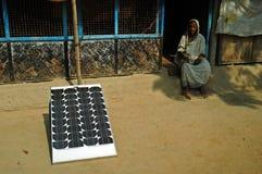 Electrificación de la aldea Foto de archivo libre de regalías