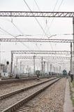 Electrificación ferroviaria Fotos de archivo libres de regalías